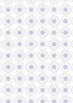 Tante Ema Baumwolle Stoff Blumenringe flieder 50x65  – Bild 1