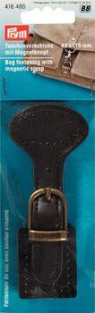 Prym Taschenverschluss mit Magnetknopf dunkelbraun