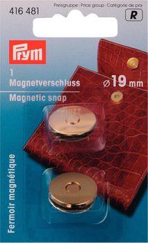 Prym Magnet-Verschluss 19mm goldfarbig