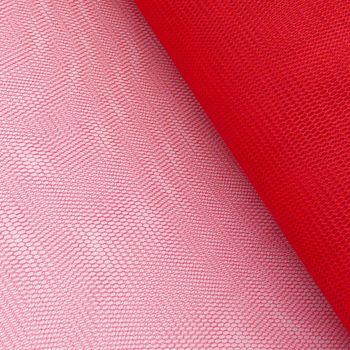 Kreativstoff Tüll Polyester rot 1,4m Breite