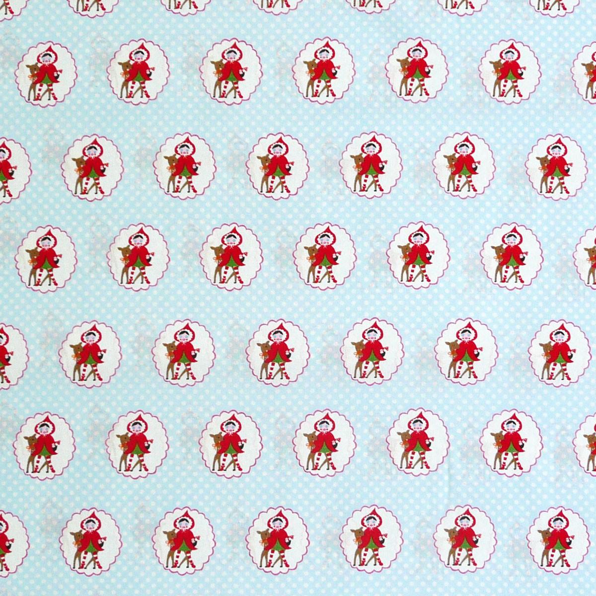 Kreativstoff Baumwollstoff Stoff Little Red