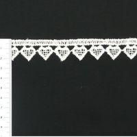 Borte Spitzenborte creme Herz Meterware 2cm