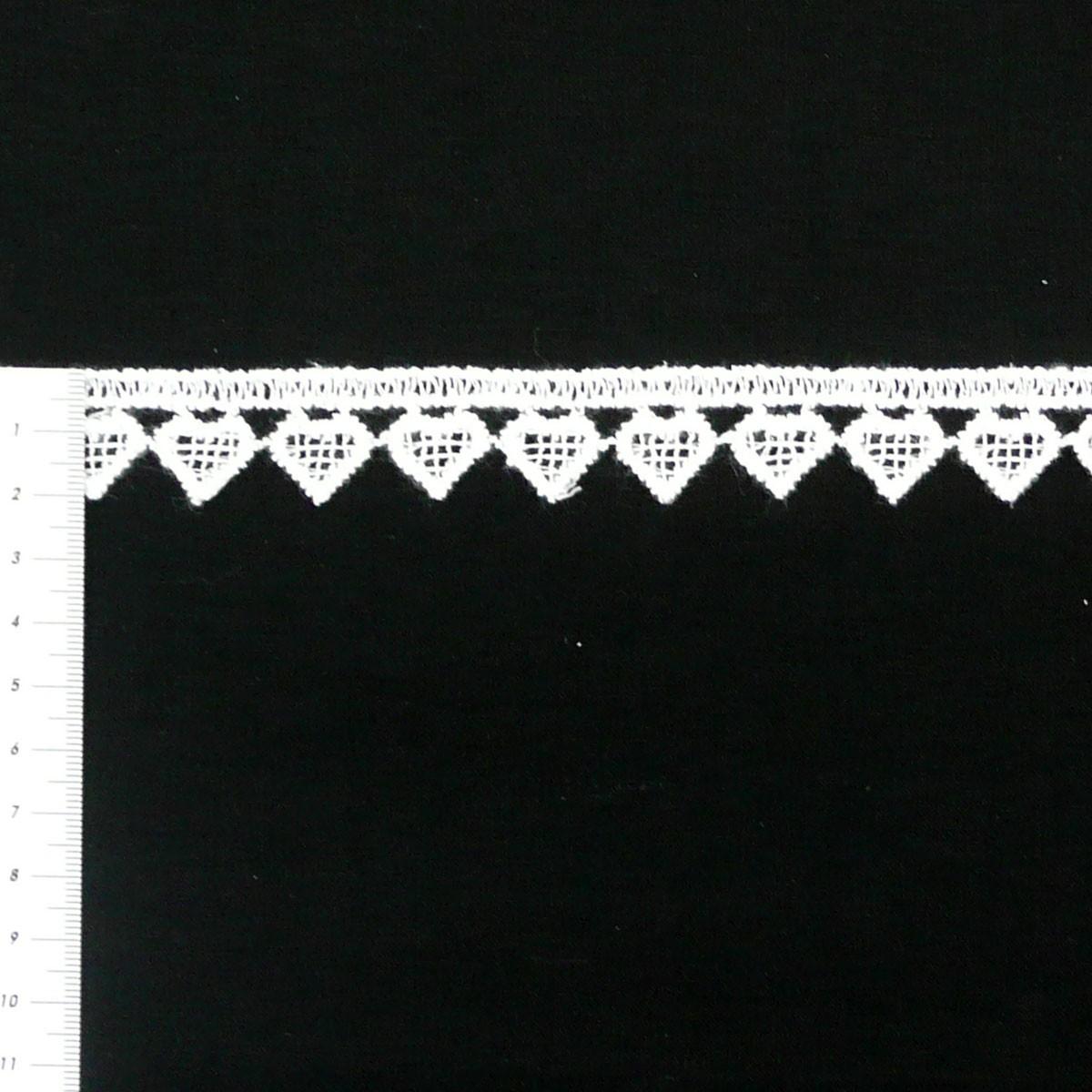 Borte Spitzenborte weiß Herz Meterware 2cm