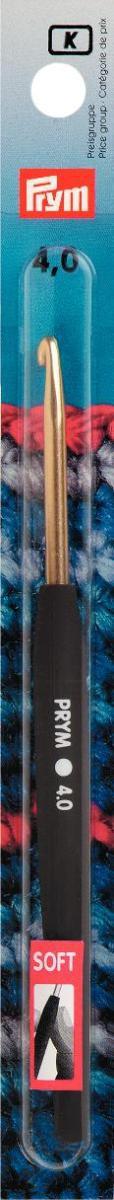 Prym Woll-Häkelnadel 4,0 Soft Griff ALU silber Länge: 14cm