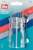 Prym Strickpüppchen Acryl transparent MAXI mit Nadel 9,5x4,5cm 001