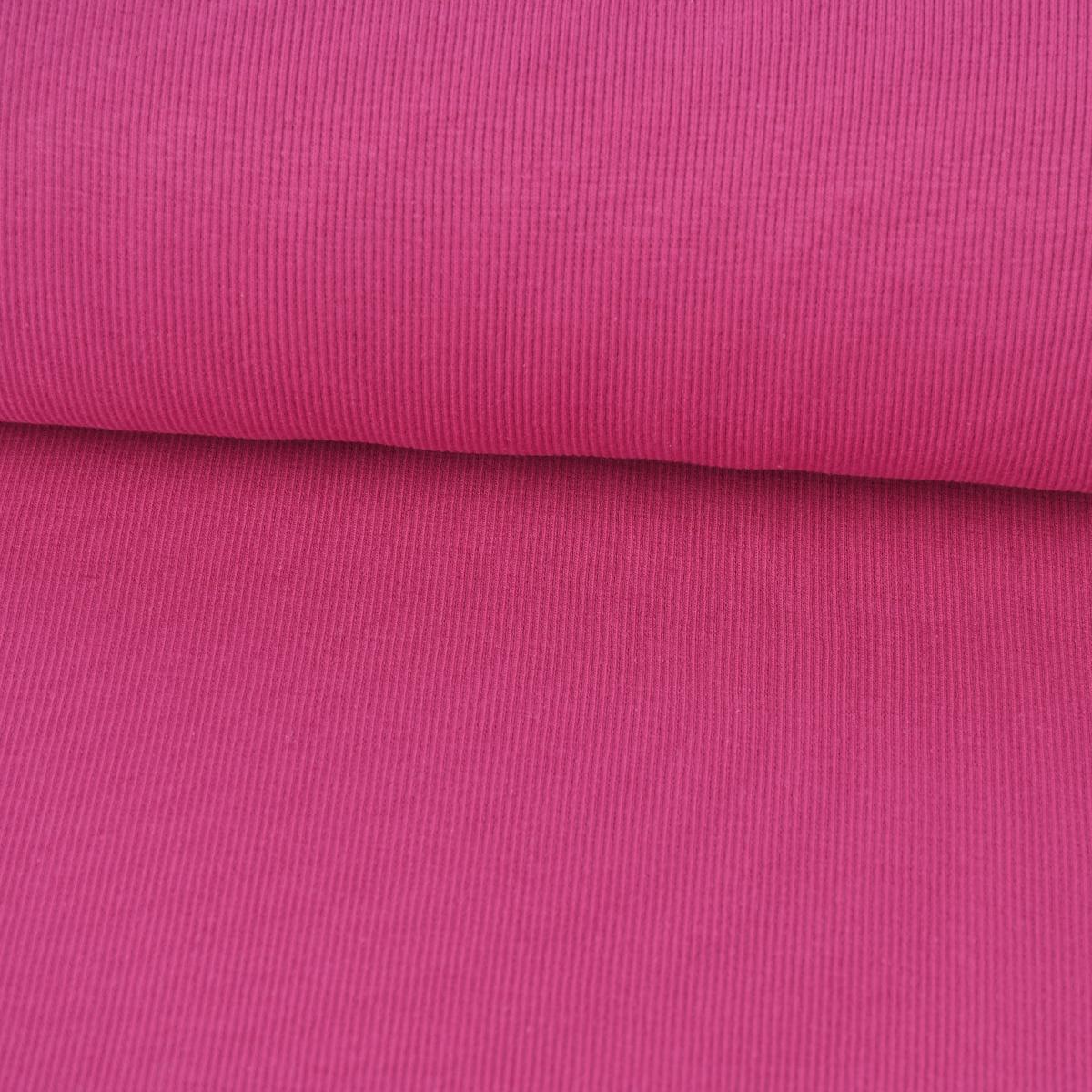 Kreativstoff Strickschlauch Bündchenstoff grob pink 27cm Breite