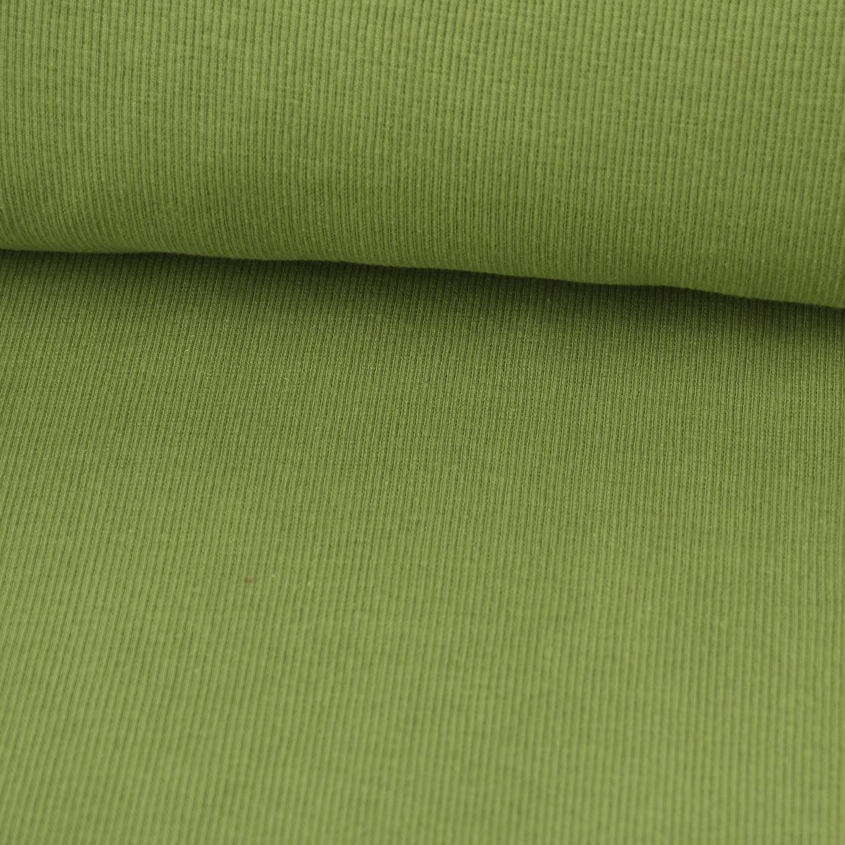 Strickschlauch Bündchenstoff grob apfelgrün 30cm Breite