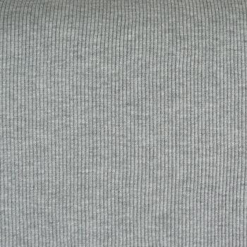 Strickschlauch Bündchenstoff grob hellgrau meliert 40cm Breite
