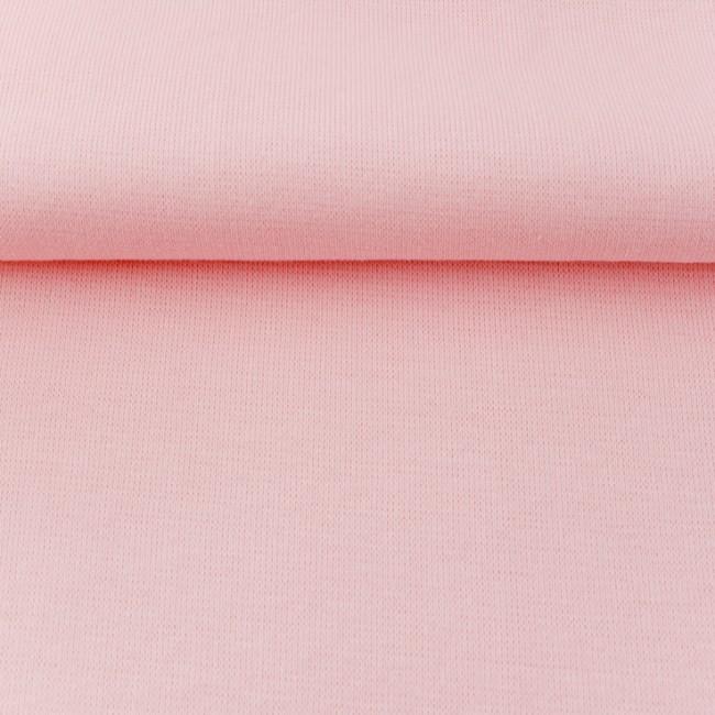Strickschlauch Bündchenstoff fein rosa 37cm Breite