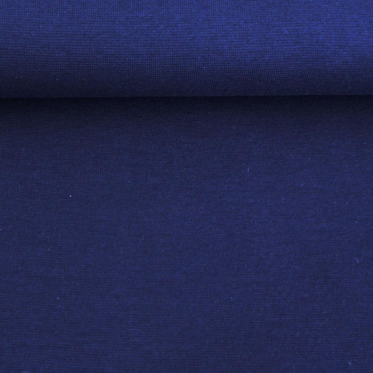 Strickschlauch Bündchenstoff fein dunkelblau 37cm Breite