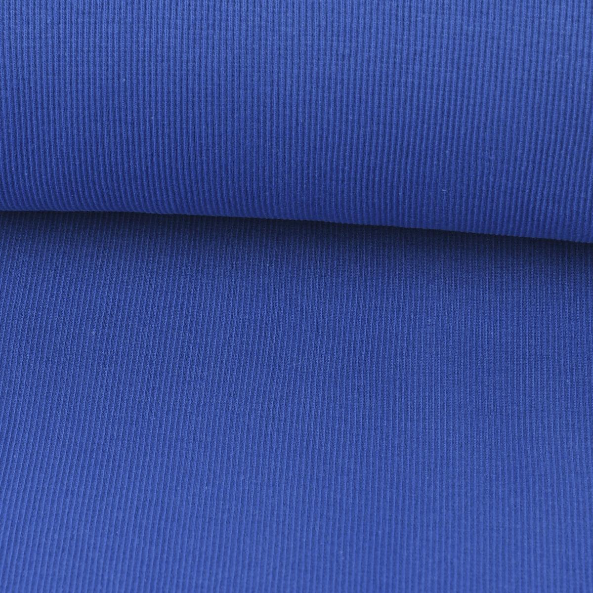 Kreativstoff Strickschlauch Bündchenstoff grob royalblau 27cm Breite