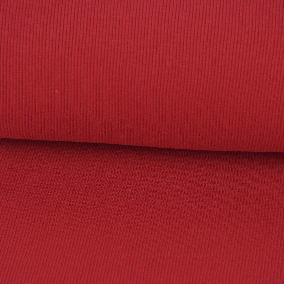 Strickschlauch Bündchenstoff grob rot  27cm Breite