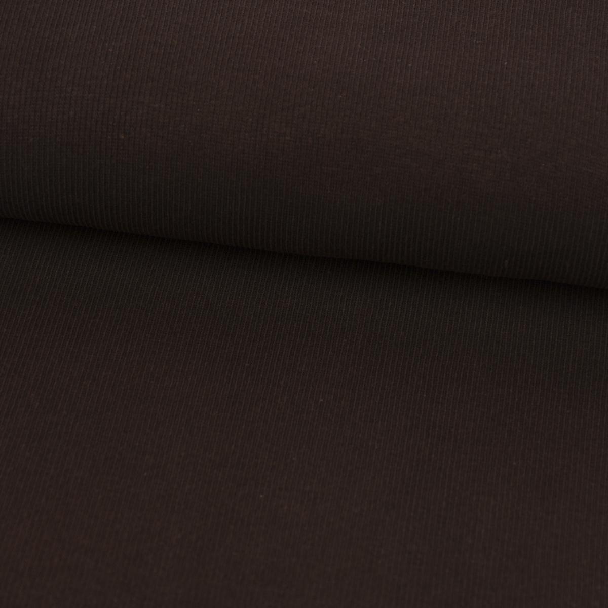 Kreativstoff Strickschlauch Bündchenstoff grob dunkelbraun 27cm Breite