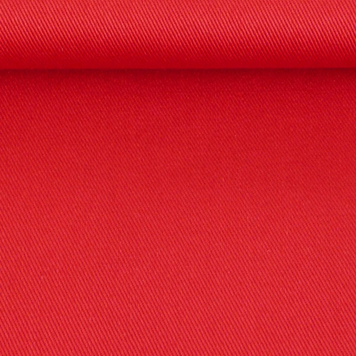 Bekleidungsstoff Baumwoll Köper rot 1,4m Breite