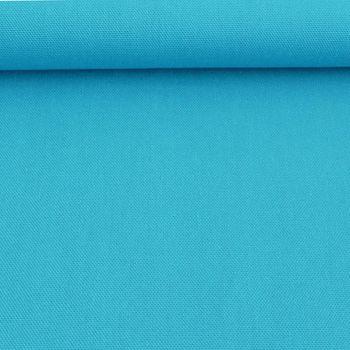 Kreativstoff Baumwollstoff Canvas einfarbig türkis 1,4m Breite