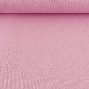 Kreativstoff Baumwollstoff Canvas einfarbig babyrosa 1,4m Breite