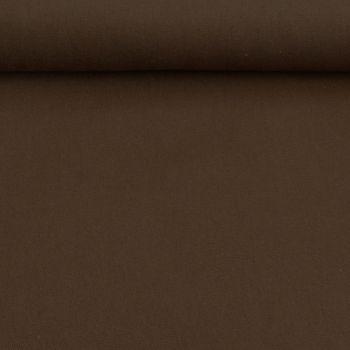 Kreativstoff Baumwollstoff Canvas einfarbig dunkelbraun 1,4m Breite