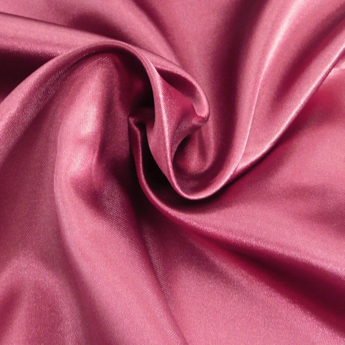 Kreativstoff Satinstoff einfarbig weinrot 1,4m Breite