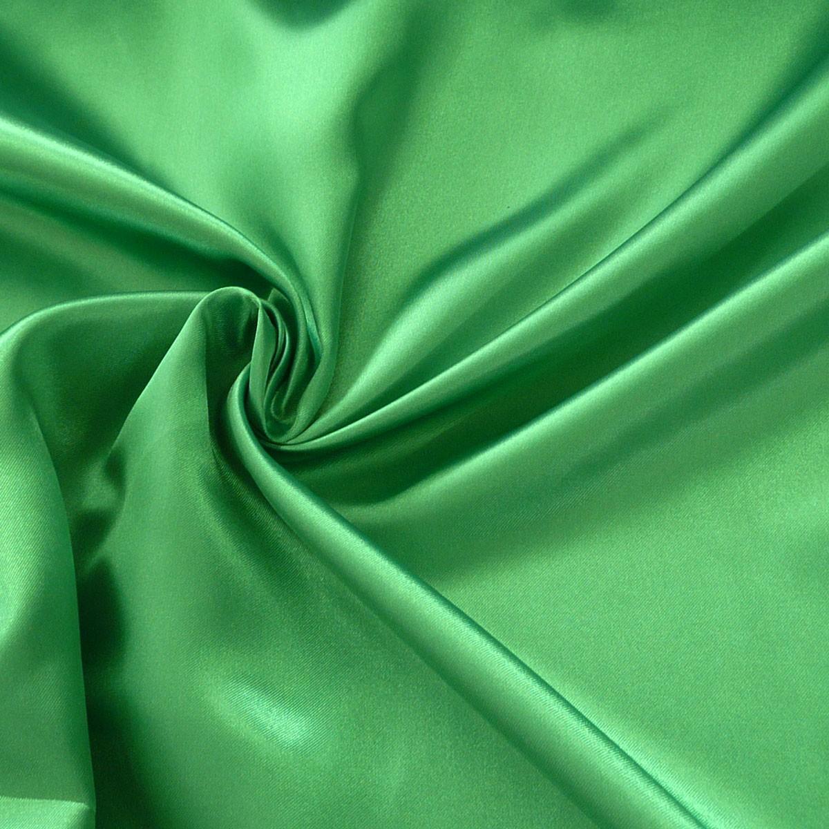 Kreativstoff Satinstoff einfarbig grasgrün 1,4m Breite