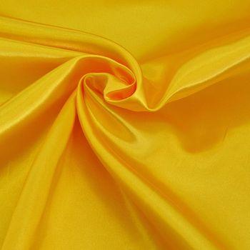 Kreativstoff Satinstoff einfarbig gelb 1,4m Breite