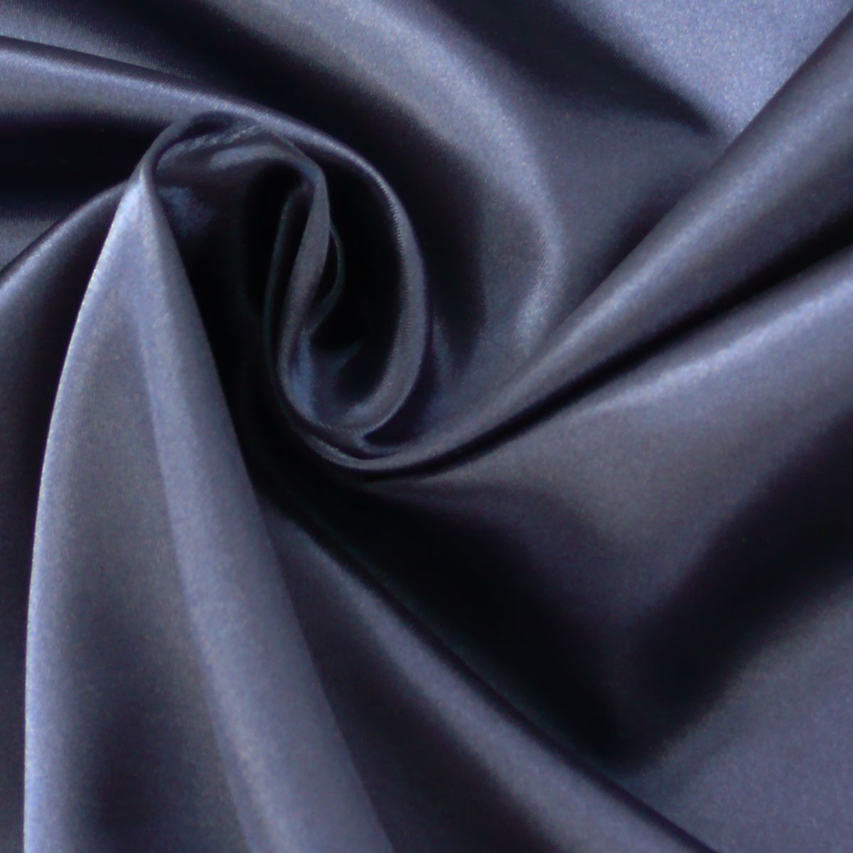 Kreativstoff Satinstoff einfarbig dunkelblau 1,4m Breite