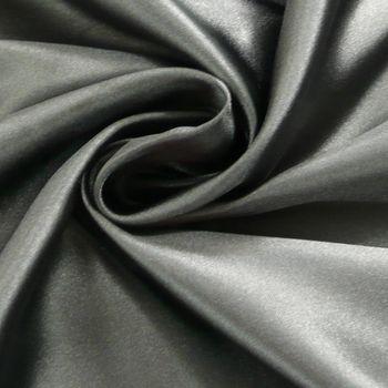 Kreativstoff Satinstoff einfarbig schwarz 1,4m Breite