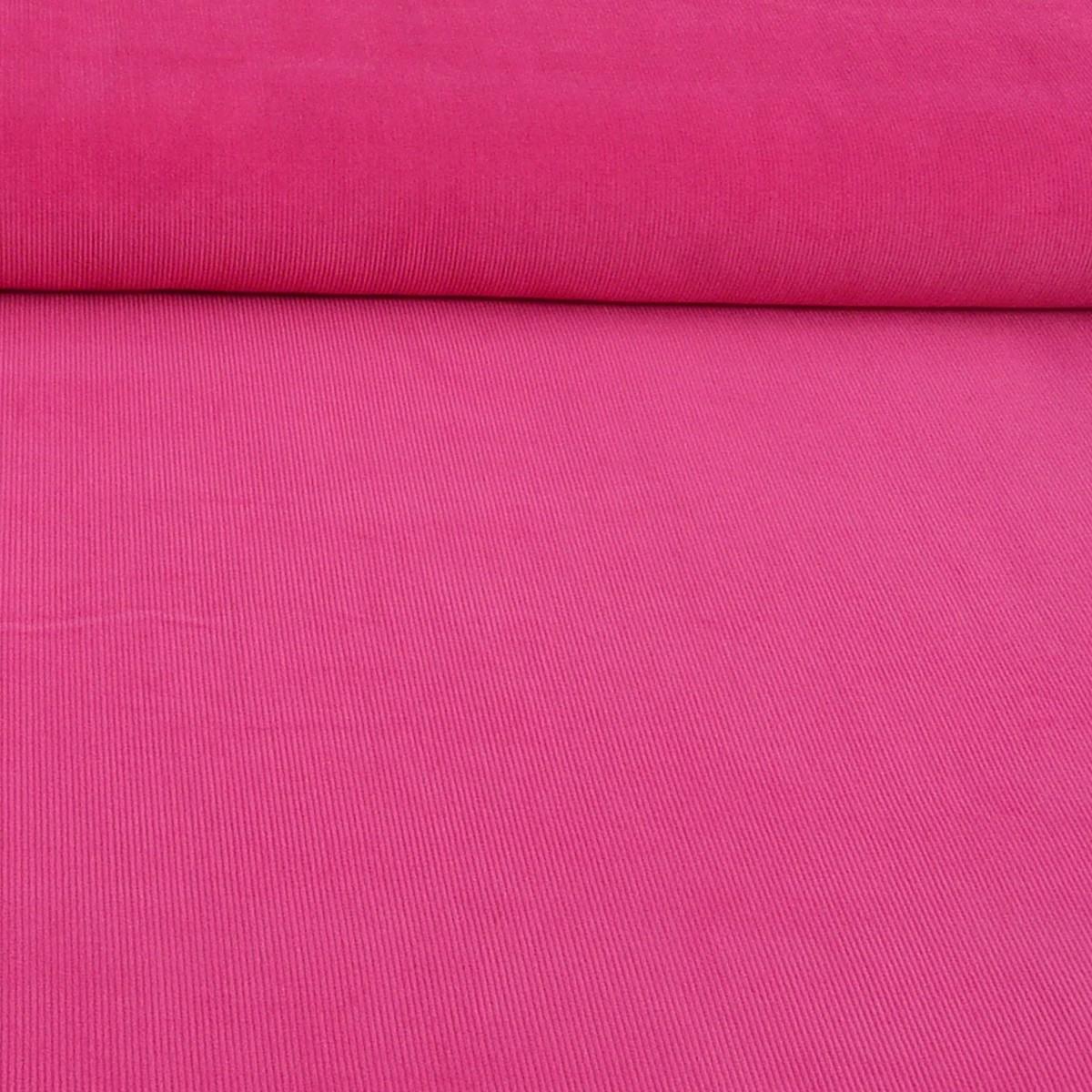 Bekleidungsstoff Cord einfarbig pink
