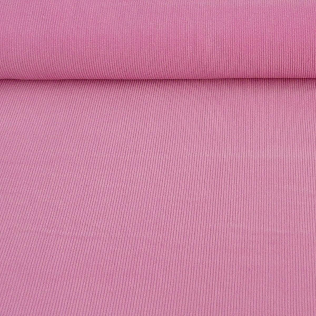 Bekleidungsstoff Cord einfarbig rosa