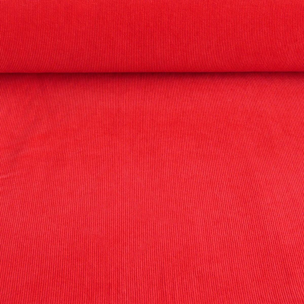 Bekleidungsstoff Cord einfarbig rot