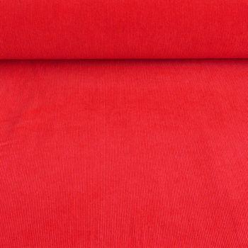 Bekleidungsstoff Cord einfarbig rot – Bild 1