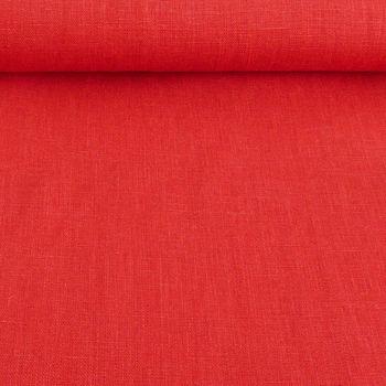 Bekleidungsstoff Leinen 255g/m² einfarbig rot – Bild 1