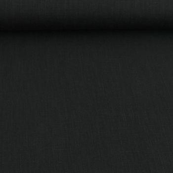 Bekleidungsstoff Leinen 255g/m² einfarbig schwarz – Bild 1