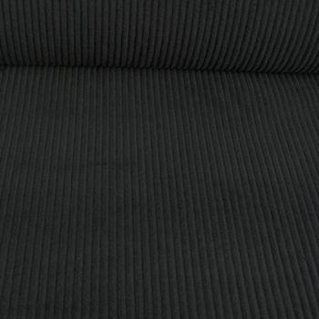 Bekleidungsstoff Cord 4,5W grob einfarbig schwarz