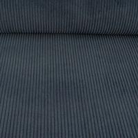 Bekleidungsstoff Cord 4,5W grob einfarbig dunkelblau