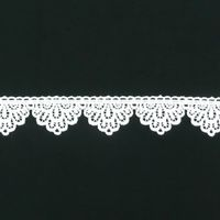 Borte Spitzenborte weiß Wellen Blume Meterware 4cm 001