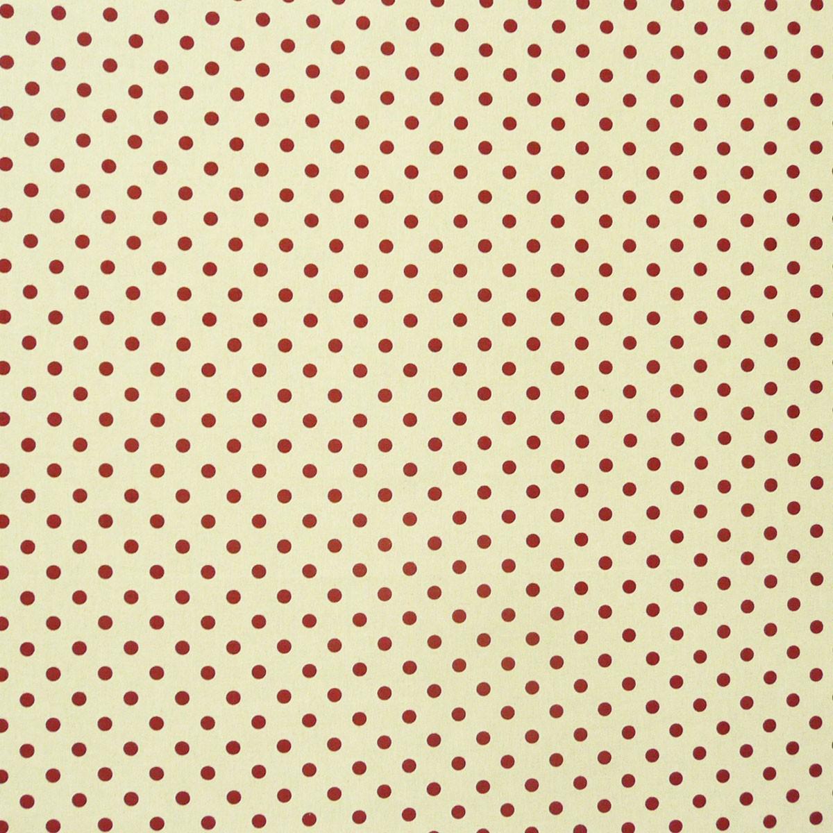Dekostoff Punkte rot Gardinenstoff 2,80m breit