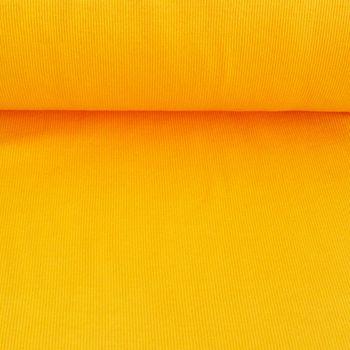 Kreativstoff Strickschlauch Bündchenstoff grob gelb 30cm Breite