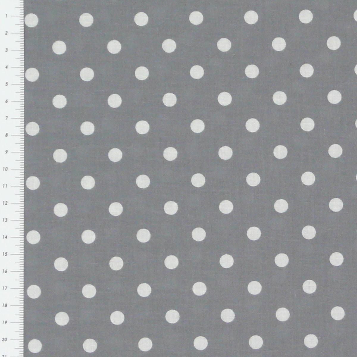 baumwollstoff punkte gro 7mm grau wei stoffe stoffe gemustert stoff punkte. Black Bedroom Furniture Sets. Home Design Ideas