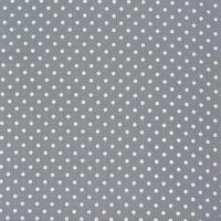 Baumwollstoff Punkte groß Ø 7mm grau weiß 001