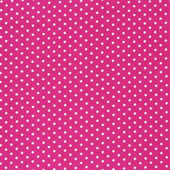 Baumwollstoff Punkte groß Ø 7mm pink weiß