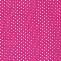 Baumwollstoff Punkte groß Ø 7mm pink weiß 001