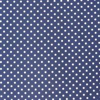 Baumwollstoff Punkte groß Ø 7mm dunkelblau weiß 001
