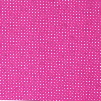 Baumwollstoff Punkte klein Ø 2mm pink weiß