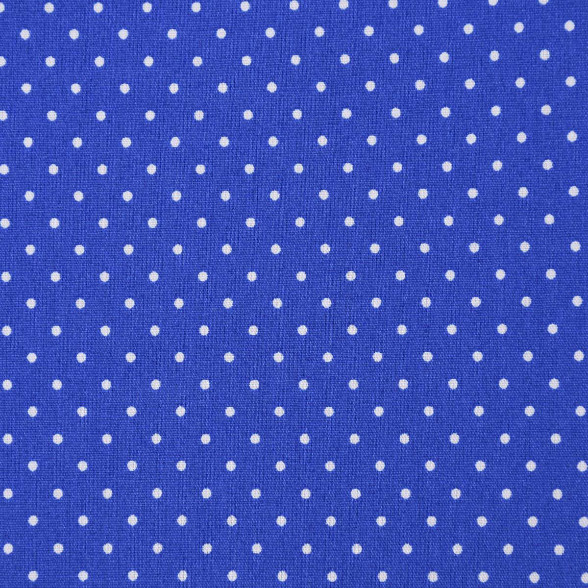 Baumwollstoff Punkte klein Ø 2mm königsblau weiß
