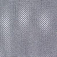 Baumwollstoff Punkte klein Ø 2mm grau weiß
