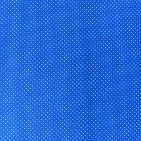 Baumwollstoff Punkte mini Ø 1mm royalblau weiß