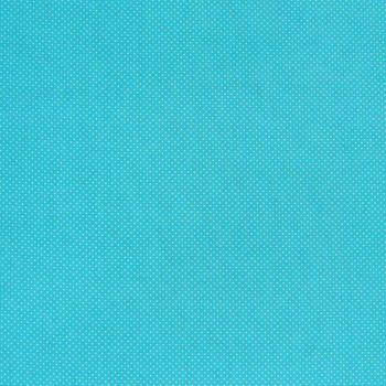 Baumwollstoff Punkte mini Ø 1mm türkis weiß