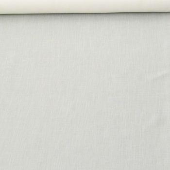 Gardinenstoff Meterware AMBITENE uni creme 1,50m Höhe