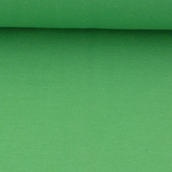 Kreativstoff Strickschlauch Bündchenstoff fein grasgrün 37cm Breite