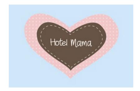 "Mea Living Fußmatte Kokos ""Hotel Mama"" 70x40cm"